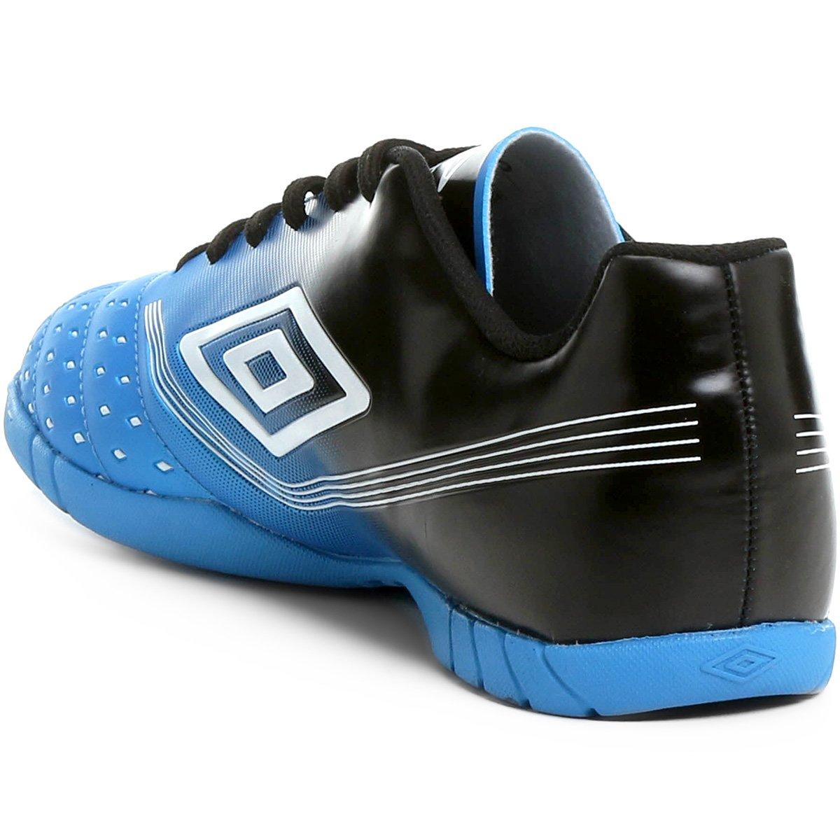 190b41bdb0 Chuteira Futsal Umbro Fifty - Preto e Azul - Compre Agora