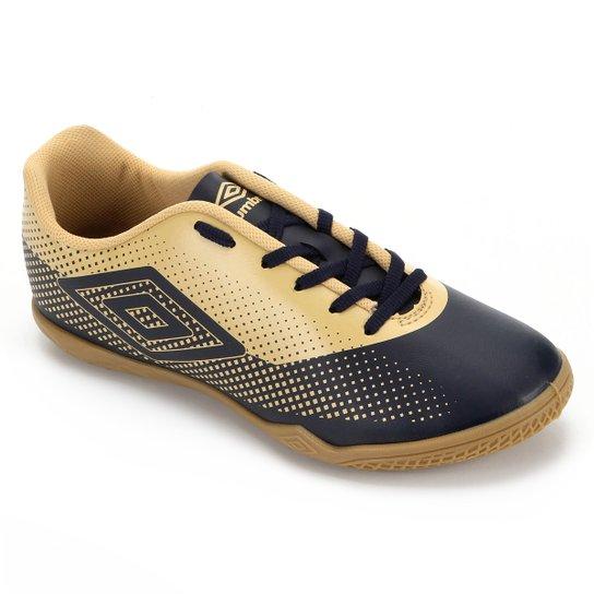 Chuteira Futsal Umbro Icon - Marinho+Dourado