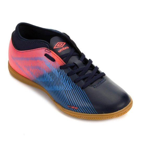 Chuteira Futsal Vibe II Umbro - Marinho+Coral