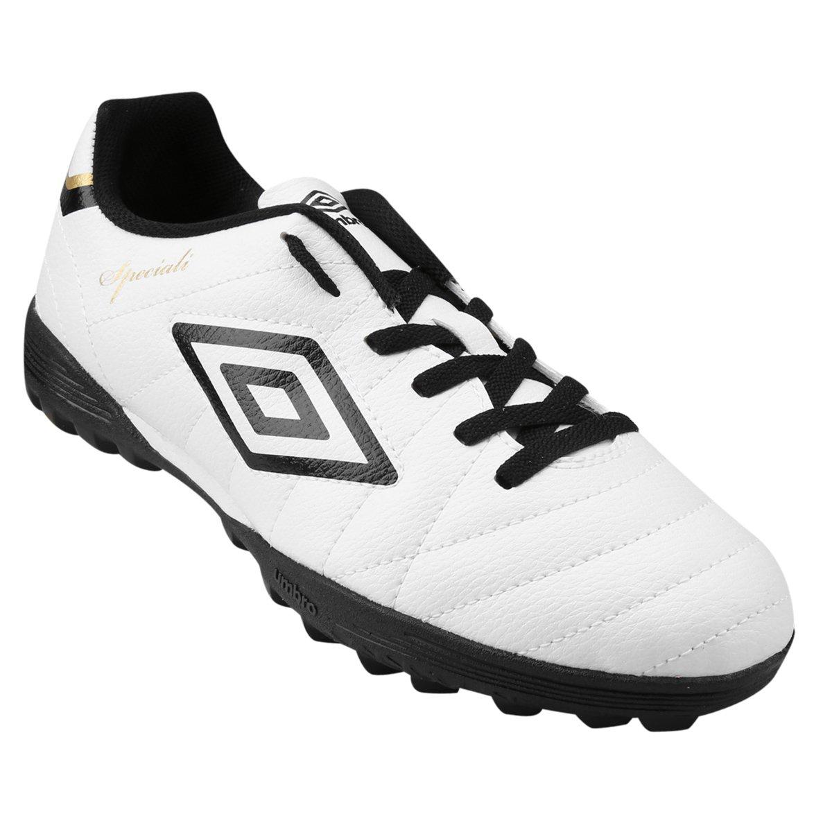 1cac93457789c Chuteira Society Umbro Speciali Club Masculina - Branco e Preto - Compre  Agora