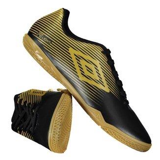Chuteira Umbro F5 Light Futsal Dourada