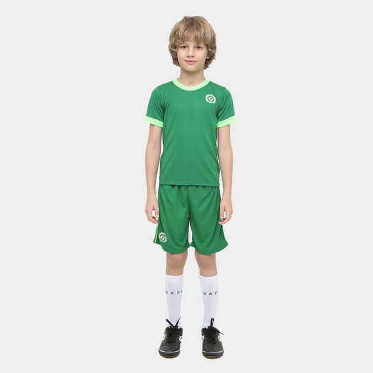 Conjunto Chapecoense Infantil Artilheiro - Verde+Branco