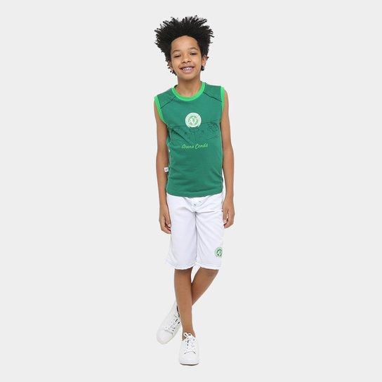 Conjunto Chapecoense Infantil - Branco+Verde