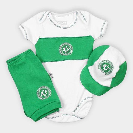 Kit Chapecoense Infantil c/ Bory - Branco+Verde