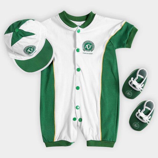 Kit Chapecoense Infantil Curto Estilo I - Verde+Branco