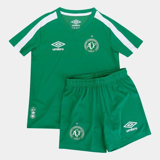 Kit Chapecoense Infantil I 19/20 s/nº Umbro - Verde+Branco