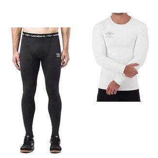 Kit Térmico Umbro Camisa Diamond + Calça Twr Masc