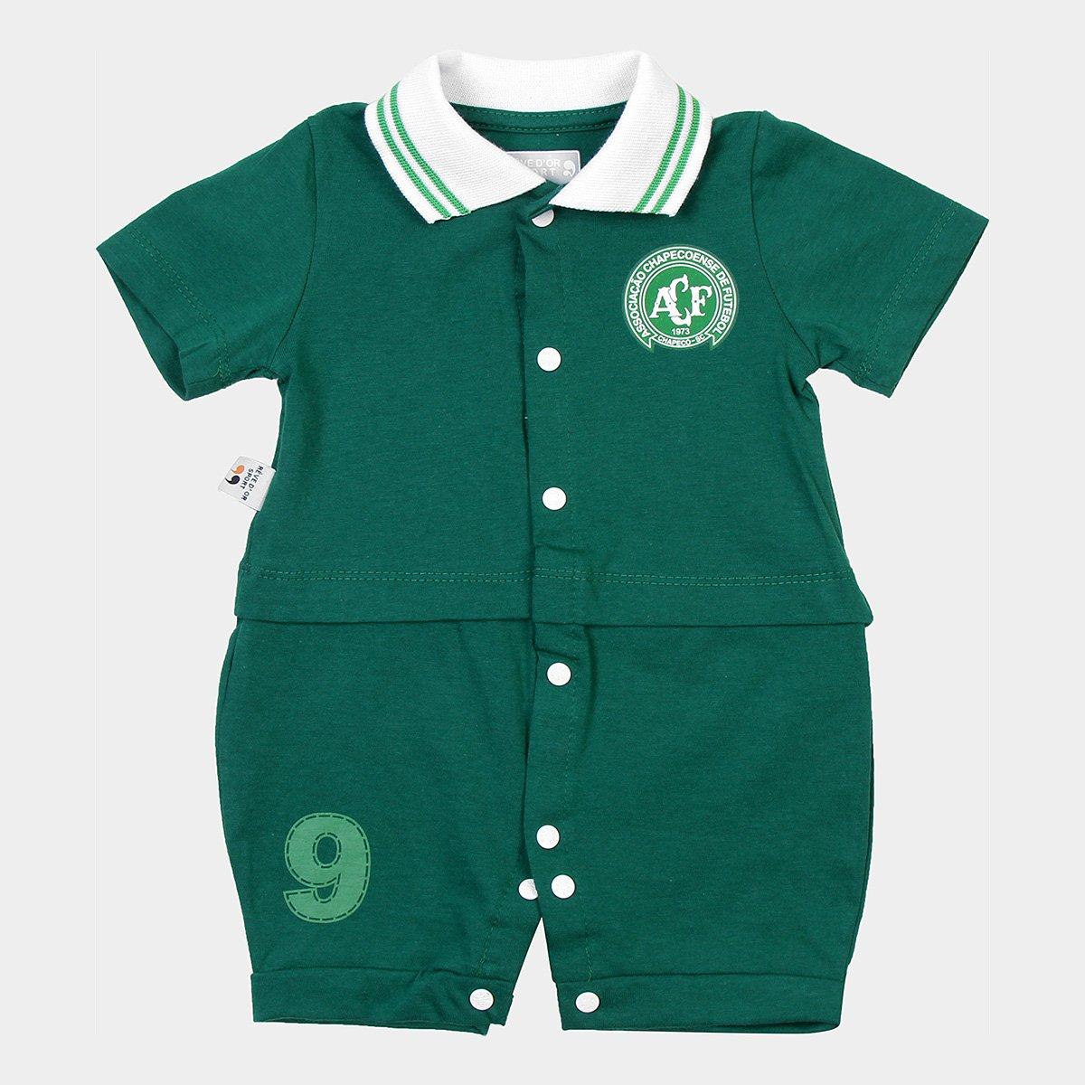 d043373f983a Macacão Chapecoense Infantil Uniforme Campo - Verde | Loja da Chape