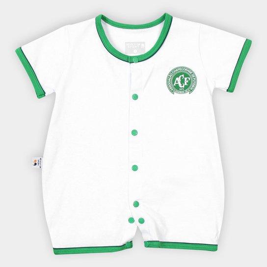 Macacão Chapecoense Infantil - Branco+Verde